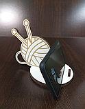 """Підставка під телефон """"Клубочек"""" біла, фото 2"""