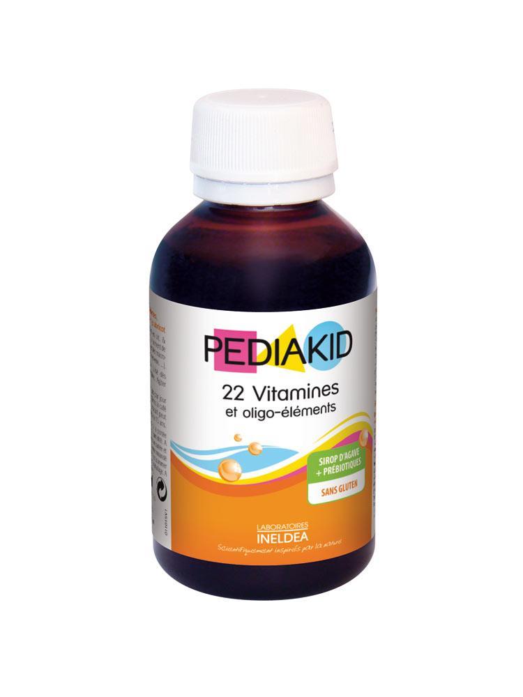 Пищевая добавка Педиакид 22 витамина и олиго-элемента Pediakid 22 Vitamins & Trace Elements 125мл
