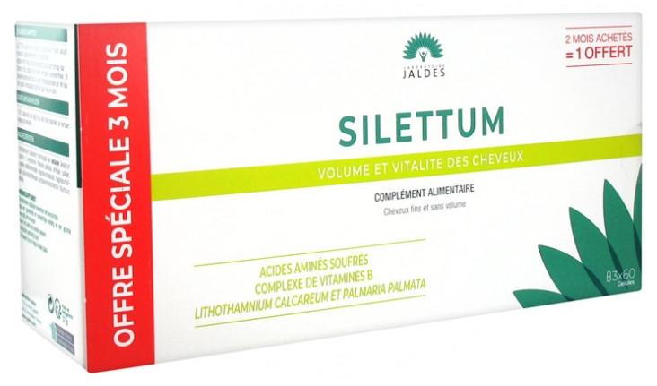 Пищевая добавка для красоты и силы волос Jaldes Silettum Hair Nutrition 3 x 60капсул
