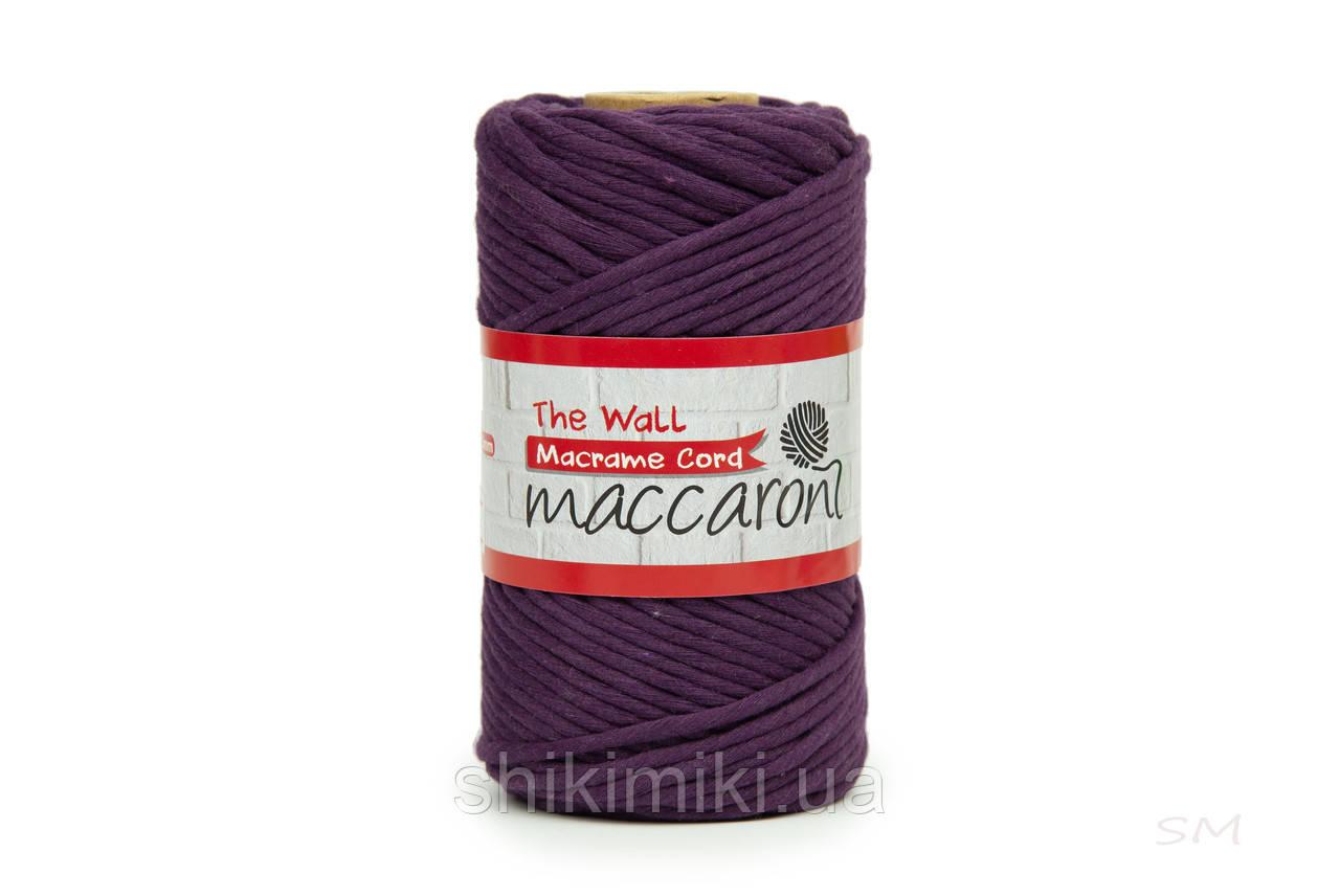Эко шнур Macrame Cord 3 mm, цвет Баклажан