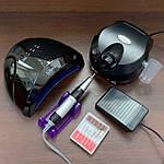 Набор для маникюра Sun с лампой Sun One и фрезером ZS-601 (черный)