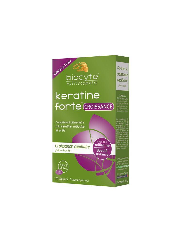Биоцит Кератин Форте для росту волосся Biocyte Keratine Forte Growth 20 Капсул