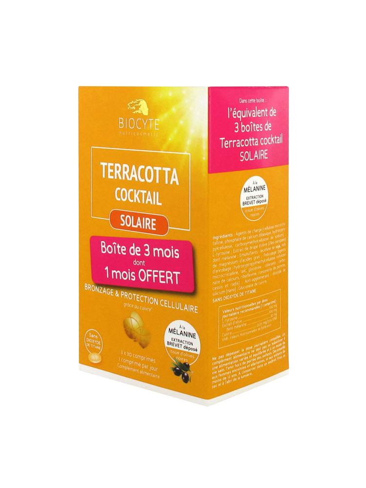 Активатор загара Biocyte Terracotta Cocktail Solar 3 x 30 Tablets