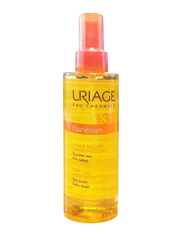 Солнцезащитный спрей для загара лица и тела Урьяж Uriage Bariésun Dry Oil SPF30 200мл