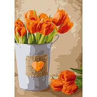 """Рисование по номерам ТМ Идейка, Цветы """"Праздник любви"""" 35*50 см, холст на подрамнике, без упаковки"""