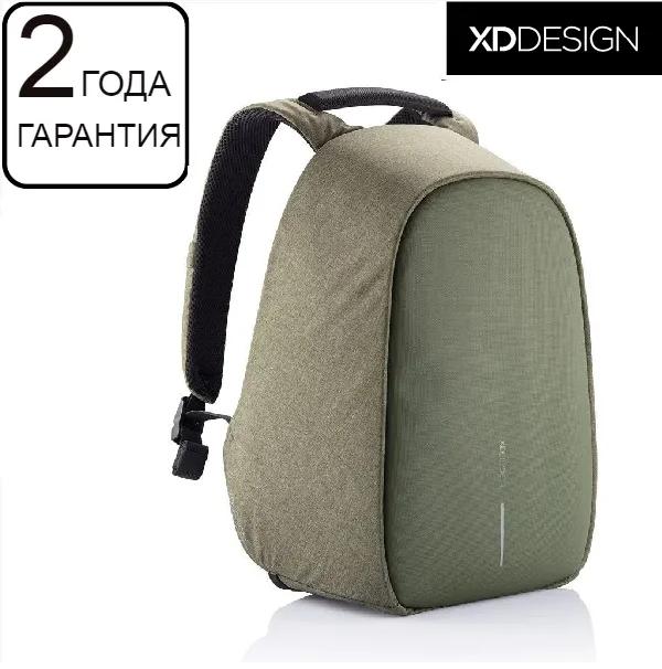 "Антивор рюкзак XD Design Bobby Hero Green 15.6"", зеленый"
