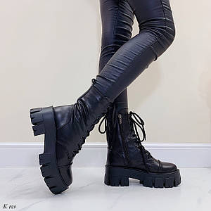 Ботинки женские на тракторной подошве 121 (ДБ)