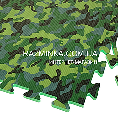 Коврик-пазл Камуфляж 50х50х1см с бортиком, 1шт (зелёный цвет)