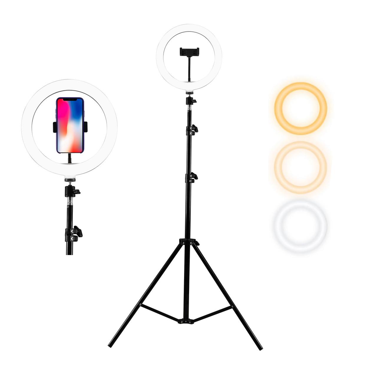Кольцевая лампа на штативе d-26см, набор блогера для фото, видеосъемок