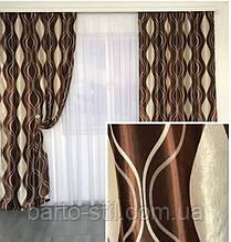"""Красивый комплект готовых штор """"Катрин"""" из ткани блекаут сиреневого цвета"""