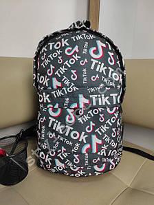 Черный рюкзак для школьников с надписями