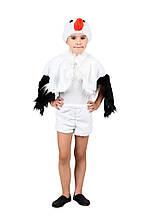 Дитячий карнавальний маскарадний костюм Лелека хутро овою розмір універсальний 104-122 см
