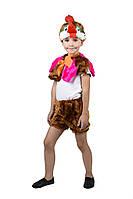 Детский карнавальный маскарадный костюм Петух мех размер универсальный 104-122 см