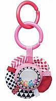 Подвесная игрушка Canpol babies плюшевая с погремушкой 0+ Zig Zag розовая Лента 68/057