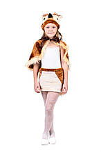 Дитячий карнавальний маскарадний костюм Сова хутро розмір універсальний 110-122 см