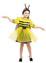 Дитячий карнавальний маскарадний костюм Бджілка бджола креп-сатин зростання: від 104 до 130 см