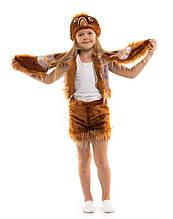 Дитячий карнавальний маскарадний костюм Воробей хутро розмір універсальний: 104-122