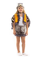 Детский карнавальный маскарадный костюм Синица синичка меховая размер универсальный 104-122 см