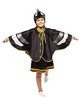 Детский карнавальный маскарадный костюм Ворона черная девочка рост: от 110 до 134 см