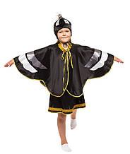Дитячий карнавальний маскарадний костюм Ворона чорна дівчинка зростання: від 110 до 134 см