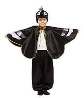 Детский карнавальный маскарадный костюм Ворон черный для мальчика рост: от 110 до 134 см