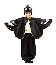 Дитячий карнавальний маскарадний костюм чорний Ворон для хлопчика зріст: від 110 до 134 см