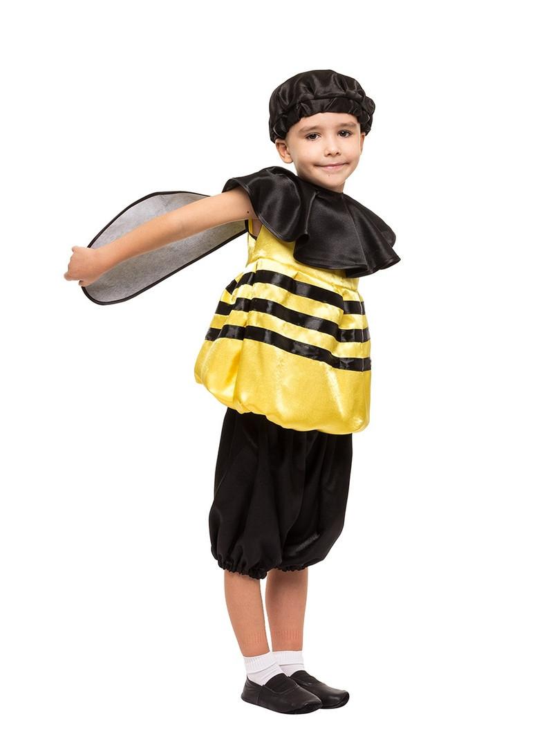 Детский карнавальный маскарадный костюм Пчелка пчела креп-сатин рост:от 104 до 130 см