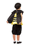 Детский карнавальный маскарадный костюм Пчелка пчела креп-сатин рост:от 104 до 130 см, фото 2