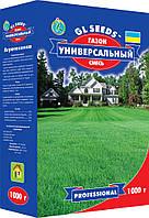Насіння газонної трави Універсальний суміш багаторічна стійка до несприятливих погодних умов, коробка 1000 г