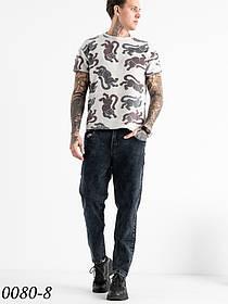 Чоловічі темно-сірі джинси МОМ (чоловічі моми) Relucky 1-0080-8
