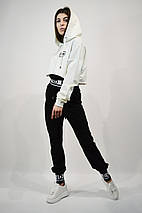 Костюм жіночий SOGO 104 M Білий з чорним двійка, фото 3