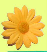 Головка ромашки желтой 7 см, фото 1