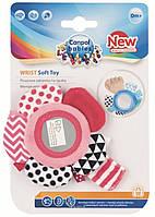 Игрушка плюшевая на руку с зеркалом 0+ Zig Zag розовая Canpol babies 68/056