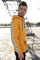 Худи мужское утепленное Adidas. Толстовка с капюшоном