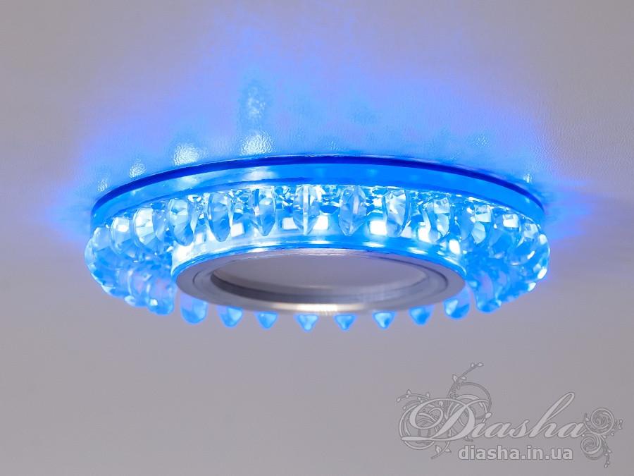 Точечные светильники с подсветкой Diasha 2090S-WH+BL