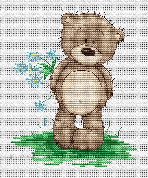 Набор для вышивки крестом Luca-S B1090 Медвежонок Бруно