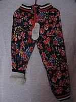 Брюки джинс цветной на меху зима р 98-110-116-122 Турция