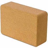 Кирпичик блок для йоги пробковый LEXFIT 3х6х9 см