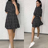 Женское весеннее платье в горох новинка 2021