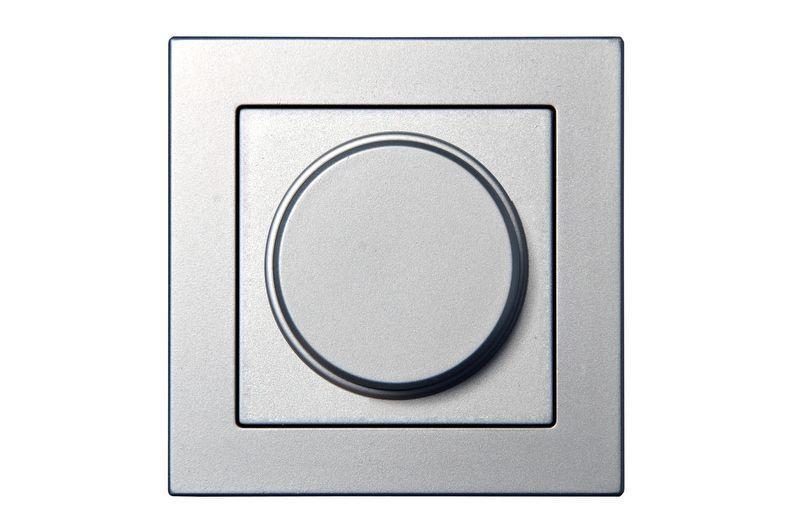 Светорегулятор (диммер) 3-100 W для LED-ламп, leading/trailing edge phase control, серебр. металлик, Epsilon