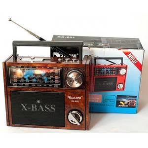 Портативный ретро радиоприемник и винтаж блютуз колонка 2в1 с MP3 USB и Led фонариком