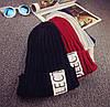 Вязаная шапка с отворотом (разные цвета), фото 2
