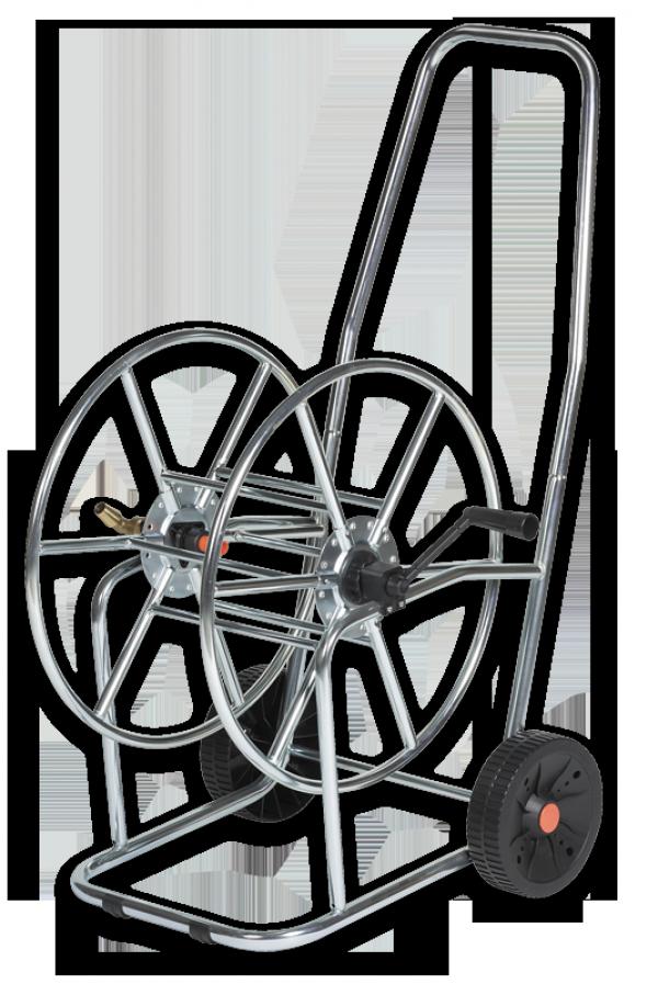 Тележка для шланга, 3/4′′ 80м, SOLID ZINC-CHROM, AG3318