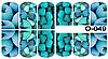 Слайдер дизайн (водная наклейка) для ногтей O-049