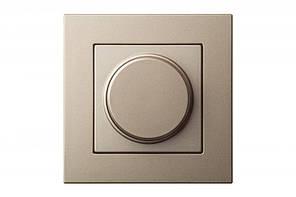 Светорегулятор (диммер) 3-100 W для LED-ламп, leding edge control, шампань, Epsilon