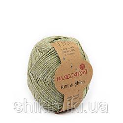Трикотажний шнур з люрексом Knit & Shine, колір Оливковий