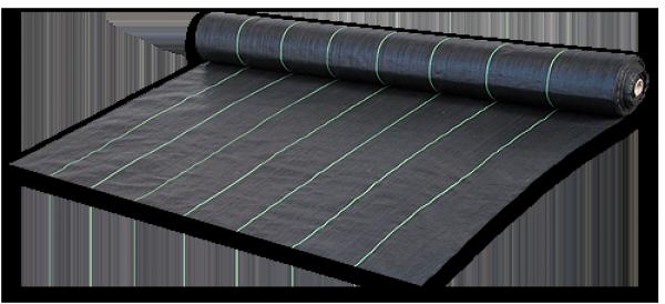 Агроткань против сорняков, черная, UV, 70  гр/м² размер 0,8 х 100м, AT7008100