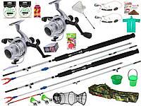 Готовые наборы для рыбалки,набор спиннинг с катушкой, универсальный набор для рыбалки,Набор рыболовный!