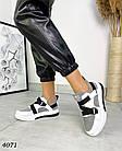 Женские кроссовки белого/серого цвета, натуральная кожа/натуральная замша, фото 2