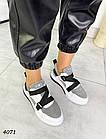 Женские кроссовки белого/серого цвета, натуральная кожа/натуральная замша, фото 4
